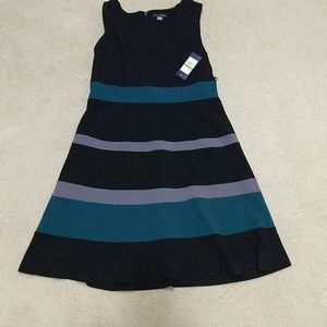BOGO. NWT Tommy Hilfiger Black Striped Dress